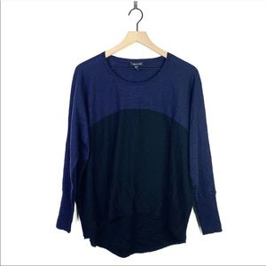 Eileen Fisher TwoTone Merino Wool High Low Sweater